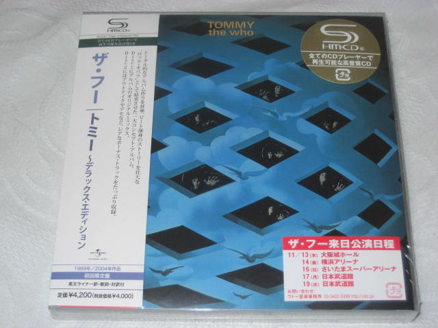 THE WHO / TOMMY -DELUXE EDITION - (紙ジャケ)_b0042308_23275719.jpg