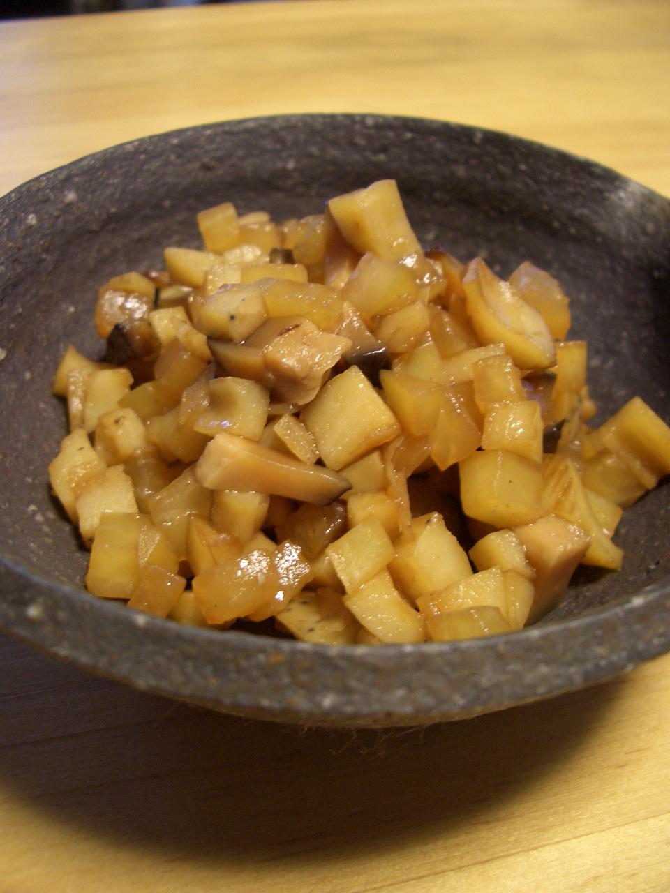 ノンオイル♪バルサミコ酢の根菜そぼろ_d0134753_20372420.jpg