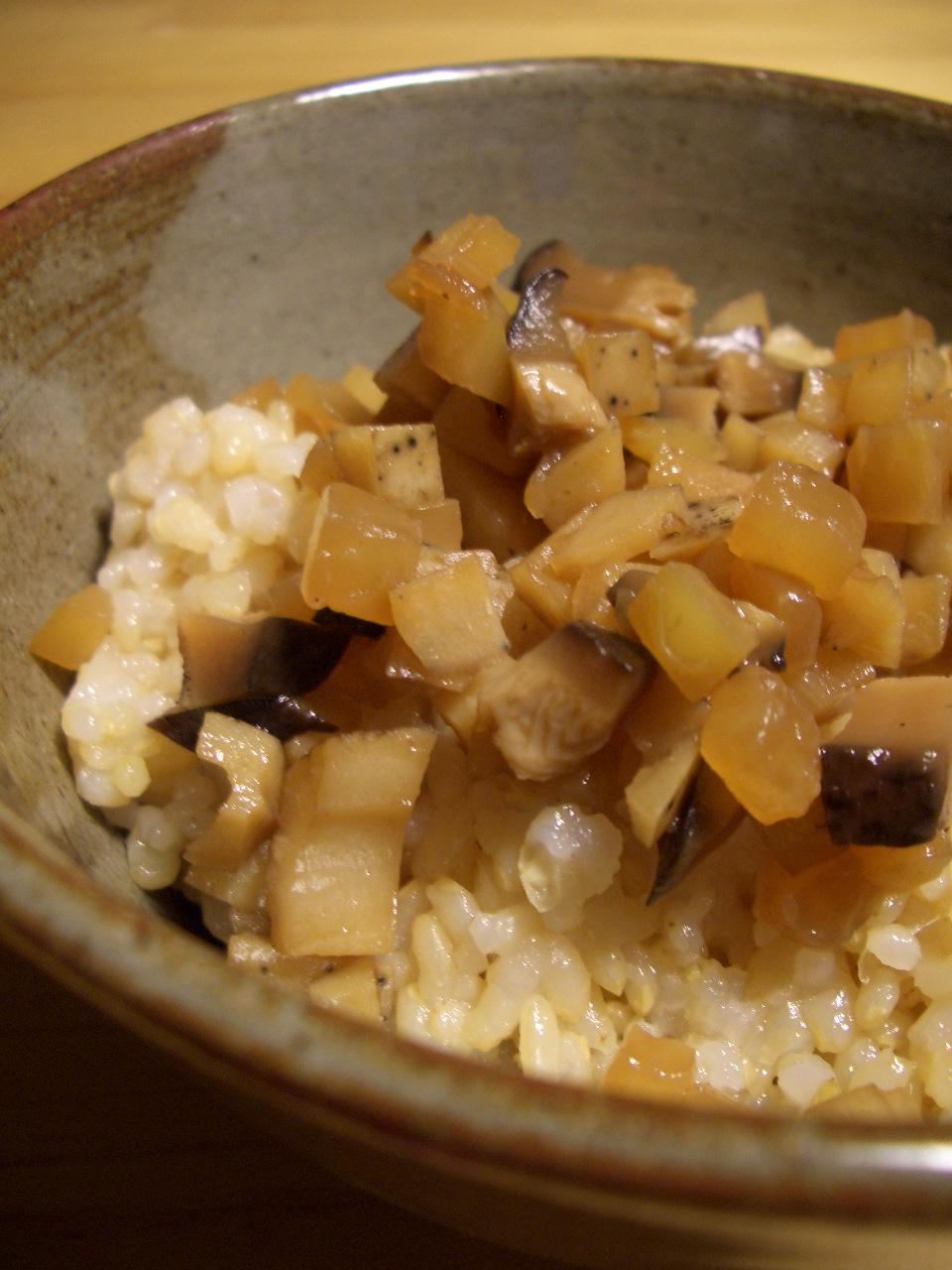 ノンオイル♪バルサミコ酢の根菜そぼろ_d0134753_20544459.jpg