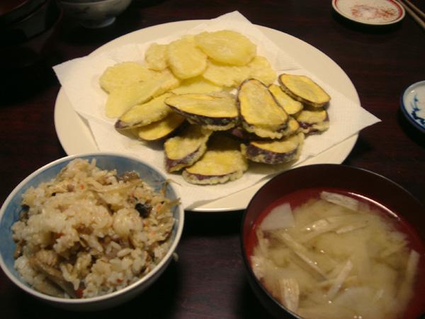まぜまぜご飯と天ぷら♪黒ちゃんおめでとう☆_a0080406_12173770.jpg