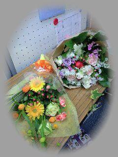 花束 2つ  幸せの思い出  11月21日_d0076641_23514797.jpg