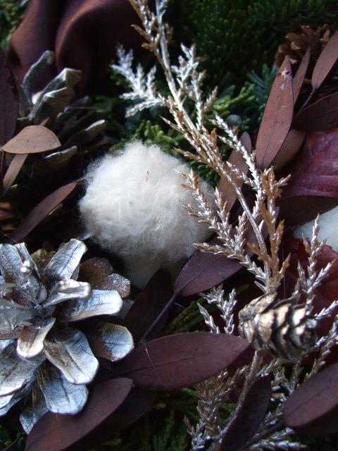 オークリーフ(クリスマスオーダーリース)_f0049672_15422433.jpg
