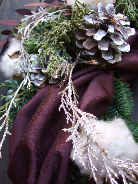 オークリーフ(クリスマスオーダーリース)_f0049672_15424487.jpg