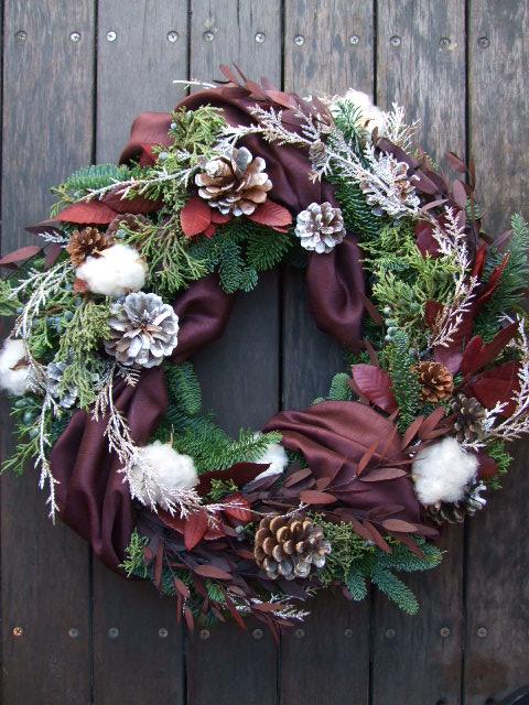 オークリーフ(クリスマスオーダーリース)_f0049672_15425538.jpg