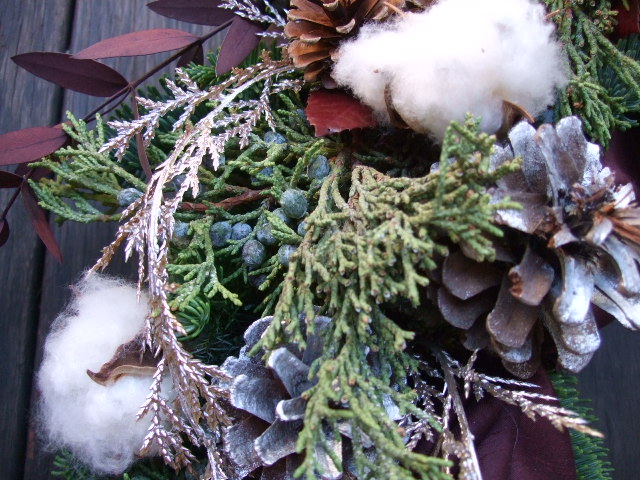 オークリーフ(クリスマスオーダーリース)_f0049672_1542977.jpg