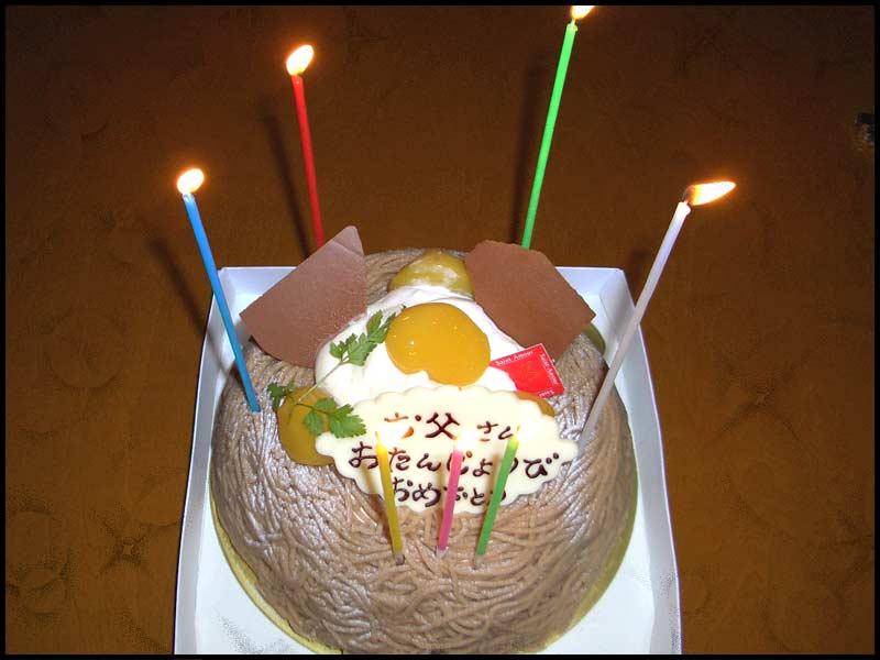 お誕生日はモンブラン♡_f0119369_2262941.jpg