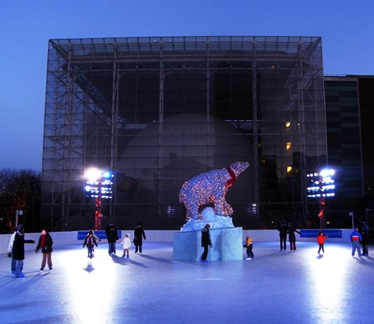 自然史博物館にスケートリンク登場 The Polar Rink_b0007805_1532144.jpg
