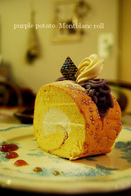 鴨エピ & 紫芋のモンブランロール_a0105872_2134555.jpg