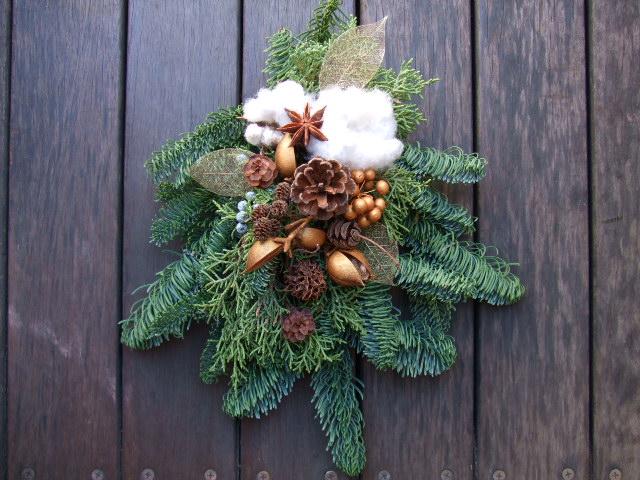オークリーフ(今年のクリスマスリースⅠ)_f0049672_17101662.jpg