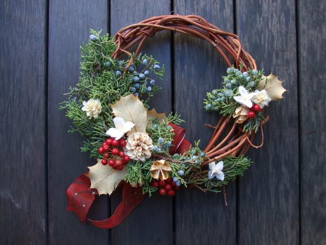 オークリーフ(今年のクリスマスリースⅠ)_f0049672_17114060.jpg