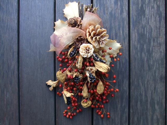 オークリーフ(今年のクリスマスリースⅠ)_f0049672_17114712.jpg