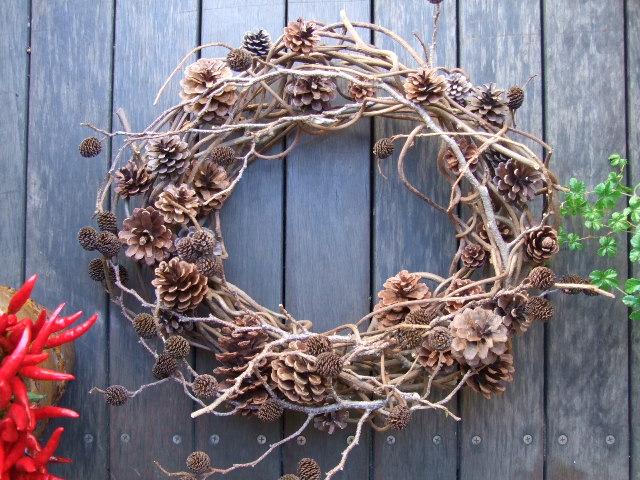 オークリーフ(今年のクリスマスリースⅠ)_f0049672_1721980.jpg