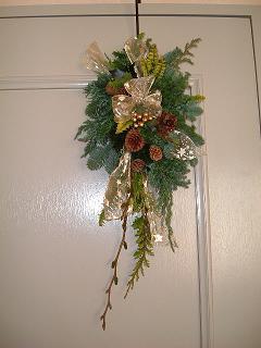 クリスマススペシャルアレンジメント講座         イタリアン Piacere in 二子玉川_c0128489_0542467.jpg