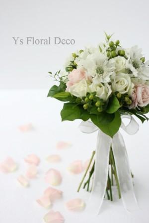 生花の花冠、ステム長めのクラッチブーケ_b0113510_013151.jpg