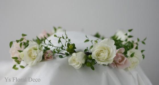 生花の花冠、ステム長めのクラッチブーケ_b0113510_01354.jpg