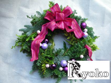 クリスマスフレッシュリースの販売_c0128489_15132311.jpg