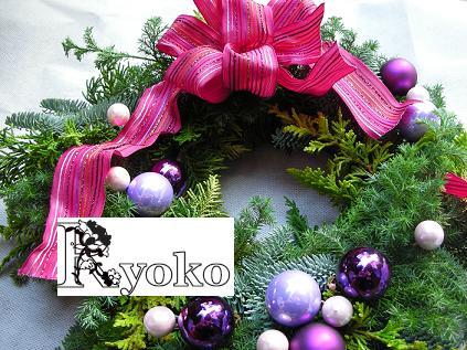 クリスマスフレッシュリースの販売_c0128489_15135041.jpg