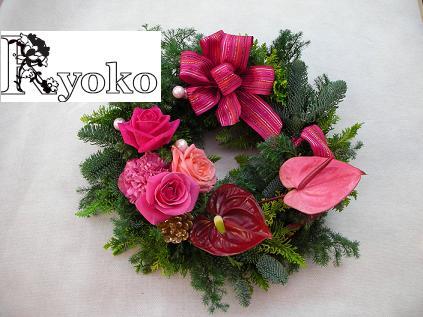 クリスマスフレッシュリースの販売_c0128489_1514446.jpg