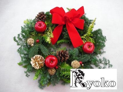 クリスマスフレッシュリースの販売_c0128489_1515517.jpg