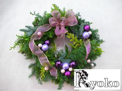 クリスマスフレッシュリースの販売_c0128489_15165818.jpg