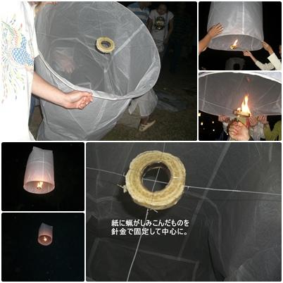 夜のスコータイ遺跡 ローイクラトンとコムローイ_a0084343_1424323.jpg