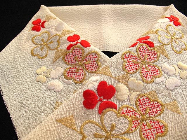 正絹半襟 「鱗にクローバー」_e0115399_17544070.jpg
