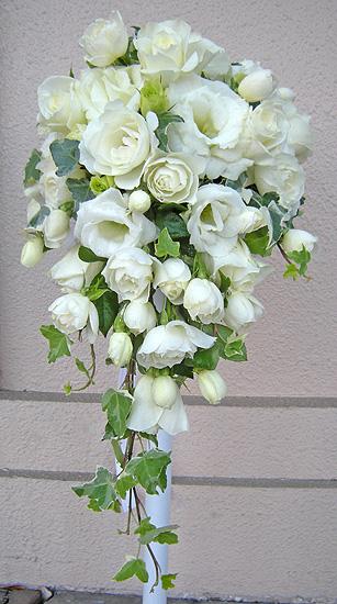 11月29日 白バラと赤バラのブーケ_a0001354_2173140.jpg