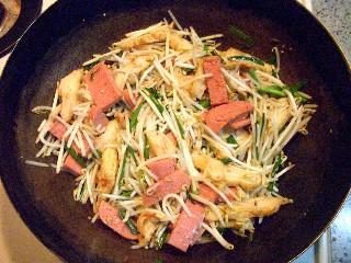 今日の夕飯はモヤシ炒め_e0166355_18242969.jpg