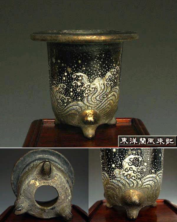 京楽焼植木鉢「短冊屋」製             No.230_b0034163_0291362.jpg