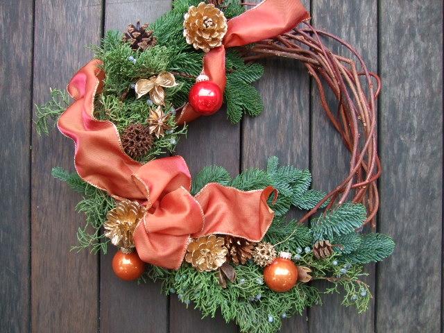 オークリーフ花の教室(クリスマスリース)_f0049672_1624652.jpg