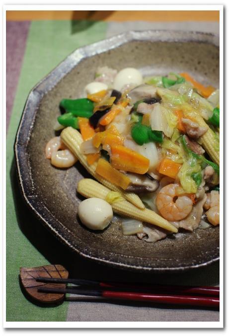 中華丼 と ワカメと大根とスモークサーモンのマリネ_f0179404_2139341.jpg
