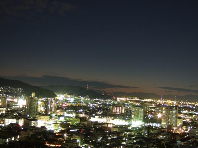 矢野夜景散歩②月ヶ丘団地からの矢野のパノラマ_b0095061_8573870.jpg