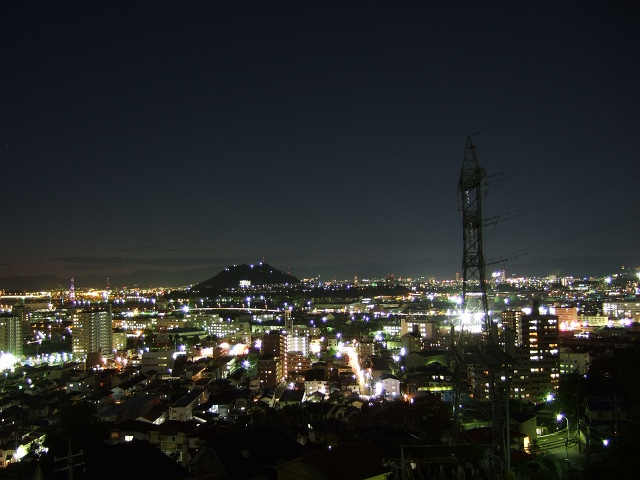 矢野夜景散歩②月ヶ丘団地からの矢野のパノラマ_b0095061_857565.jpg