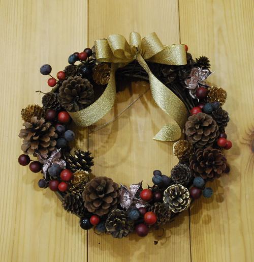 クリスマスリース_c0177814_21364692.jpg