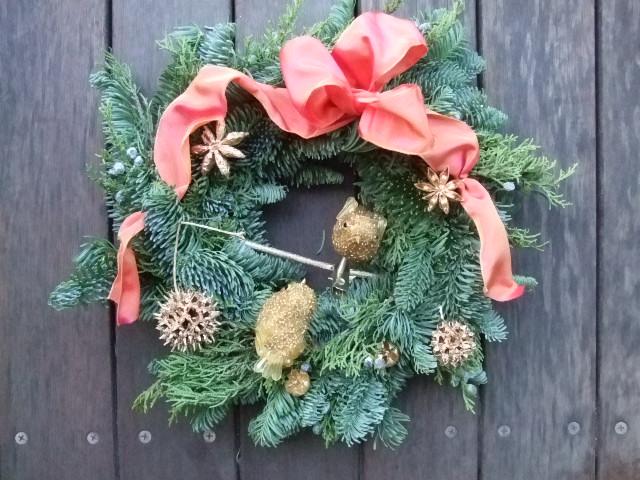 オークリーフ花の教室(クリスマスリース)_f0049672_1813856.jpg