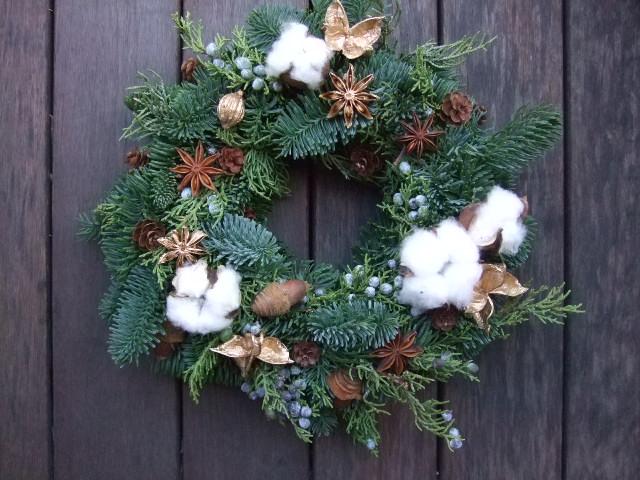 オークリーフ花の教室(クリスマスリース)_f0049672_18151889.jpg