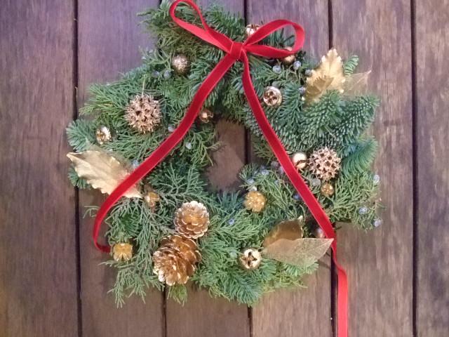 オークリーフ花の教室(クリスマスリース)_f0049672_18173264.jpg