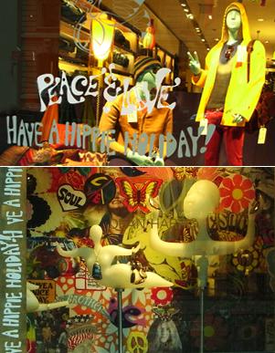 バーニーズ・ニューヨークのホリデー・ウィンドウは「平和と愛」をお届け中_b0007805_10185118.jpg