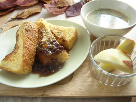 寒い冬の朝は・・パンとスープで簡単あったか朝ごはん_d0128268_882454.jpg