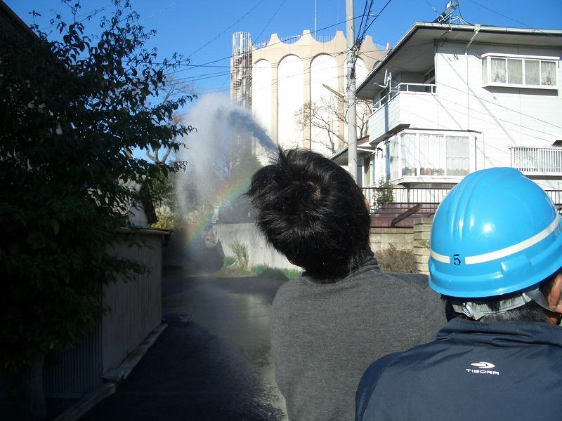 冬の「防災訓練」 放水は町内全域をカバーできるだろうか?_f0141310_23351442.jpg