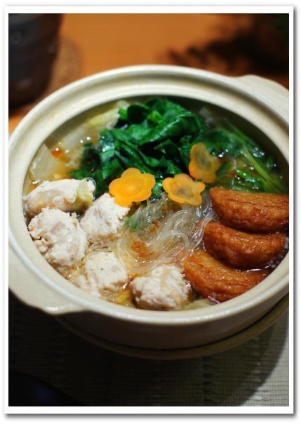 土鍋で鶏団子と白菜と春雨のスープ・蓮根の炊込みご飯_f0179404_21505592.jpg