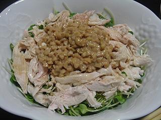 鶏ささみ納豆ごはん_c0025217_15581421.jpg