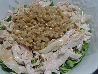 鶏ささみ納豆ごはん_c0025217_15581976.jpg