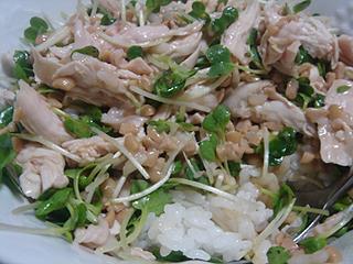 鶏ささみ納豆ごはん_c0025217_15582571.jpg