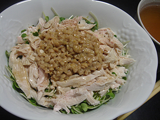 鶏ささみ納豆ごはん_c0025217_1558965.jpg