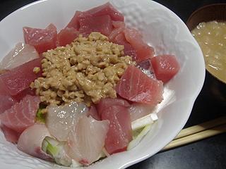 海鮮納豆ごはん_c0025217_11485128.jpg
