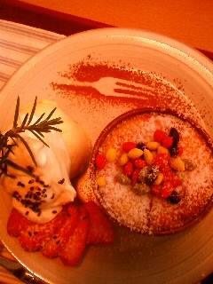 かぼちゃのチーズケーキとアイスクリーム_c0170061_16333128.jpg