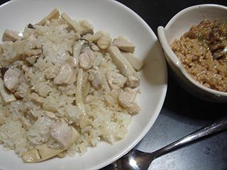鶏きのこチャーハン_c0025217_1031255.jpg