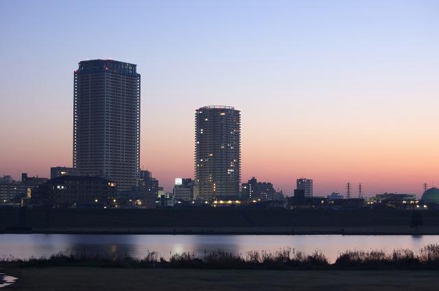 早朝の江戸川河川敷_f0018464_18234964.jpg