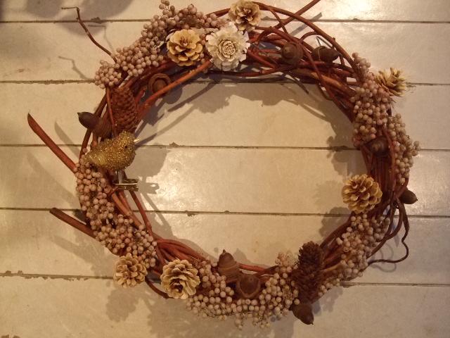 オークリーフ花の教室(クリスマスリース)_f0049672_1561477.jpg
